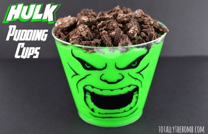 hulk pudding cups featured