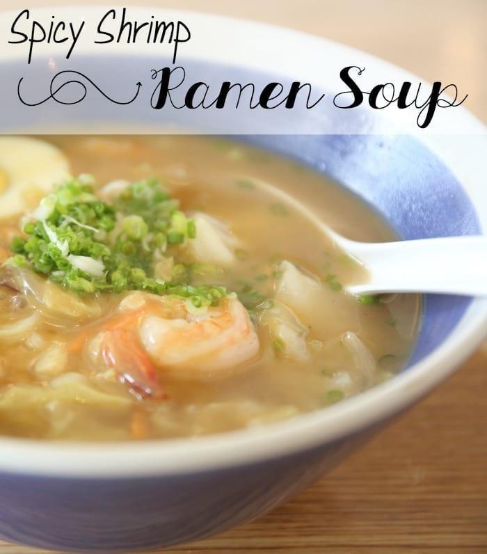 spicy shrimp ramen soup recipe pin