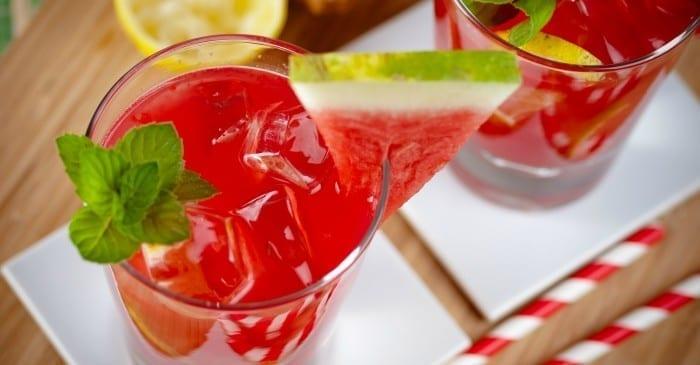 watermelon vodka mint lemonade