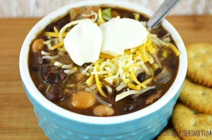 Slow Cooker Black Bean Chili2