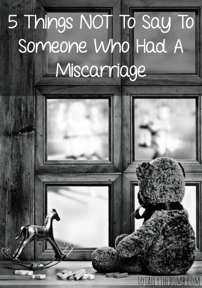 5 things not to say to someone who had a miscarriage