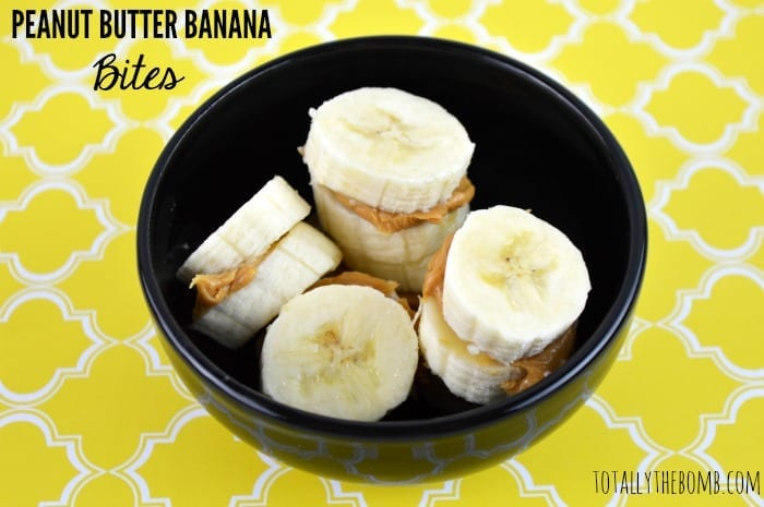 peanut butter banana bites featured