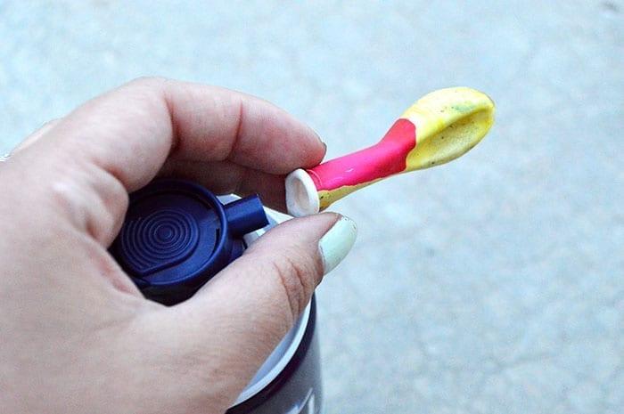 shaving cream balloons for kids inprocess1