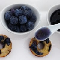 Mini Blueberry Donuts