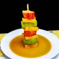 Deconstructed Cheddar and Salted Caramel Apples