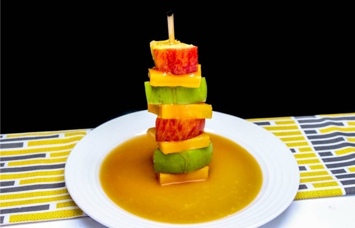Deconstructed Cheddar and Salted Caramel Apple
