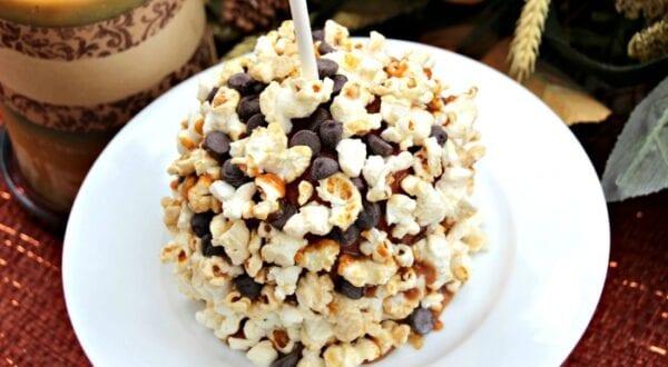 Chocolate & Popcorn Candy Apples