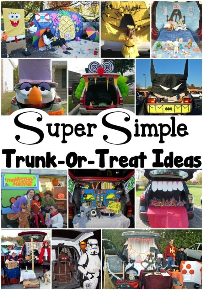 Super Simple Trunk Or Treat Ideas for Halloween