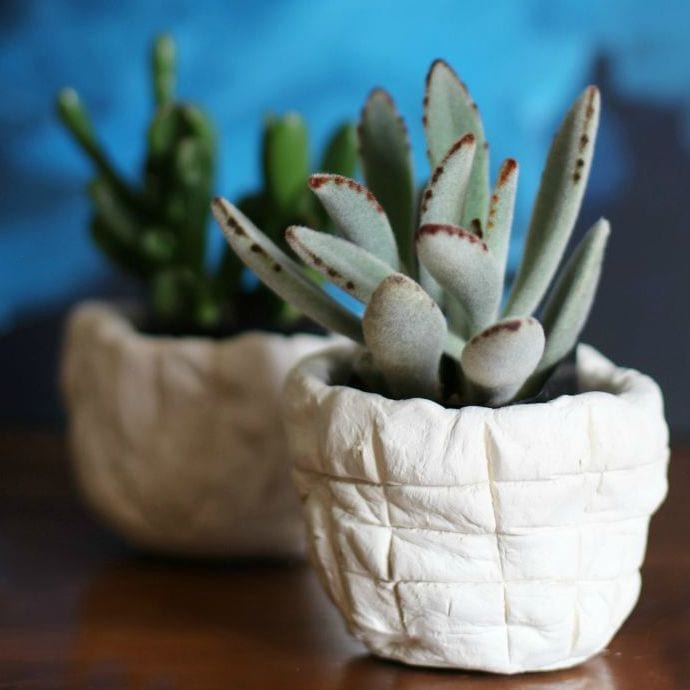 DIY Air Dry Clay Planters