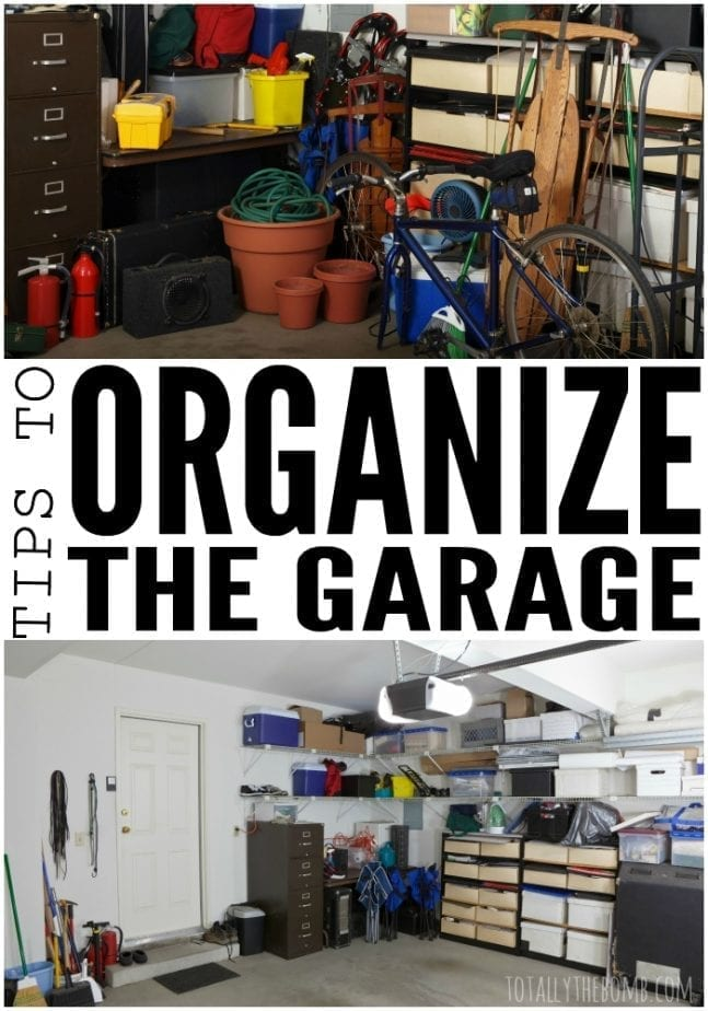 tips to organize the garage