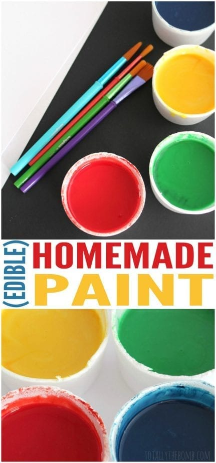 This homemade paint for kids is also edible! Perfect for the littles who still put everything in their mouths. Have Fun! Click Now!