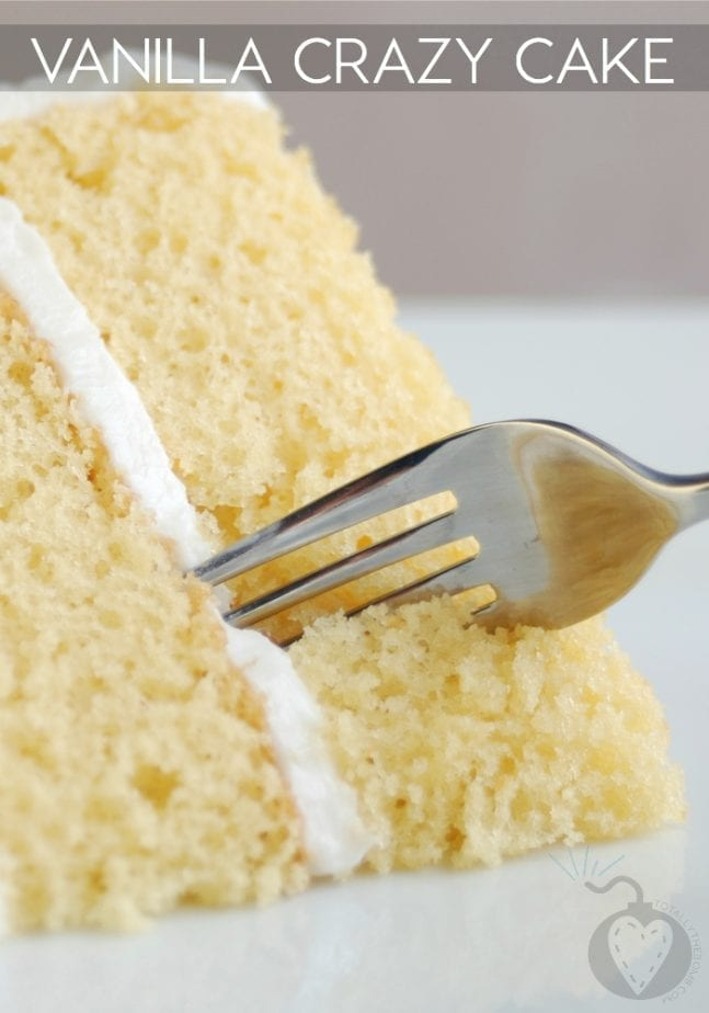 Vanilla Crazy Cake Recipe