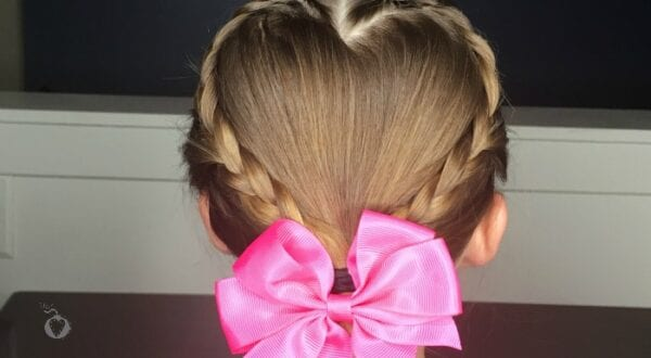 kids valentine's day hair tutorial