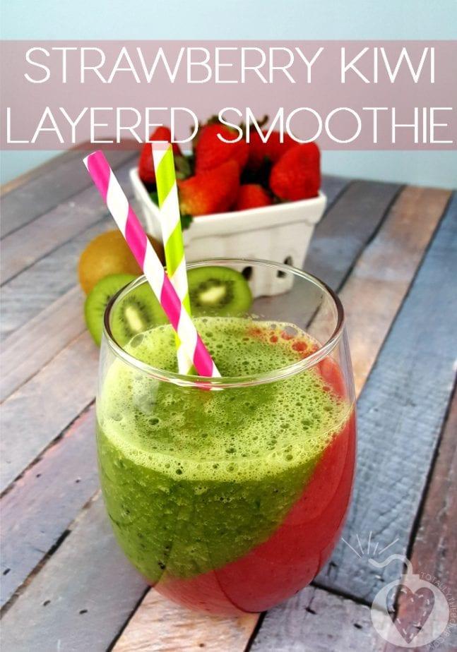 Strawberry Kiwi Layered Smoothie