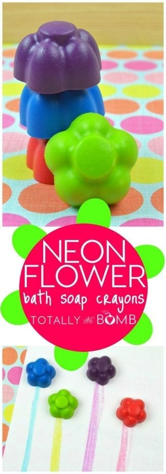 neon flower bath soap crayons
