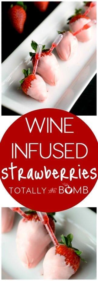 Wine Infused Strawberries
