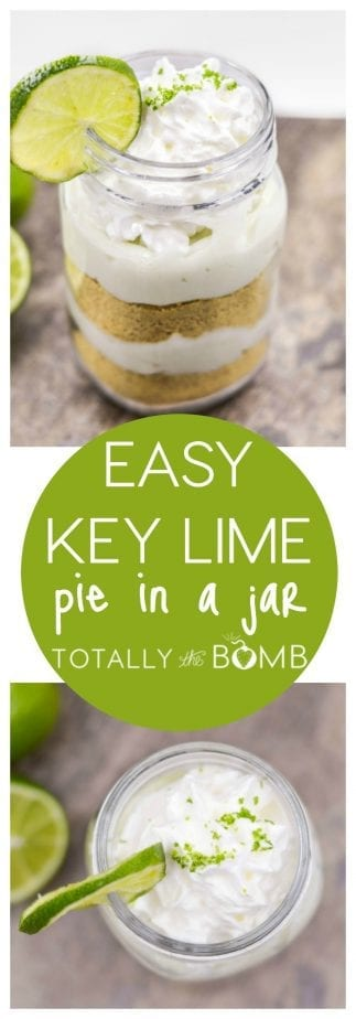 Easy Key Lime Pie in a Jar