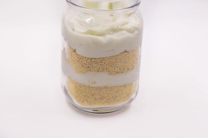 easy key lime pie in a jar step4