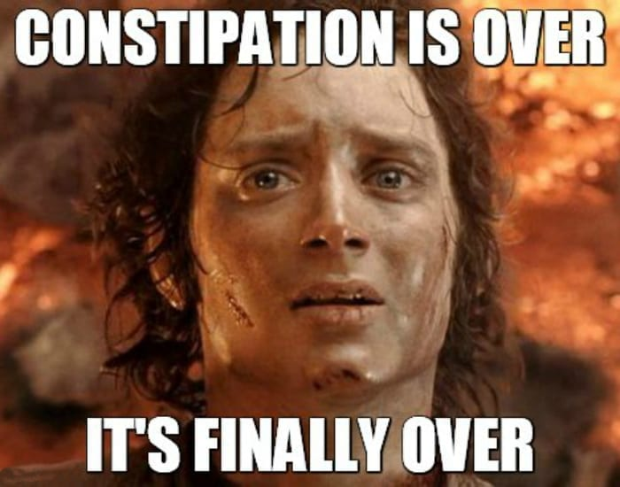 constipation is over