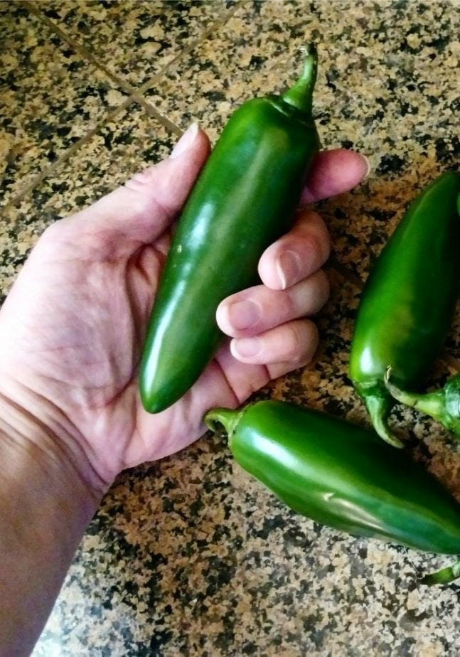 I cut jalapenos with no gloves