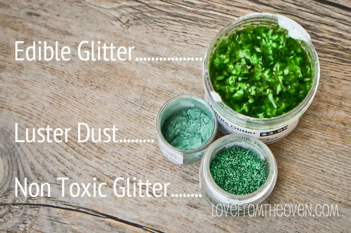 differences between non toxic glitte and edible glitter