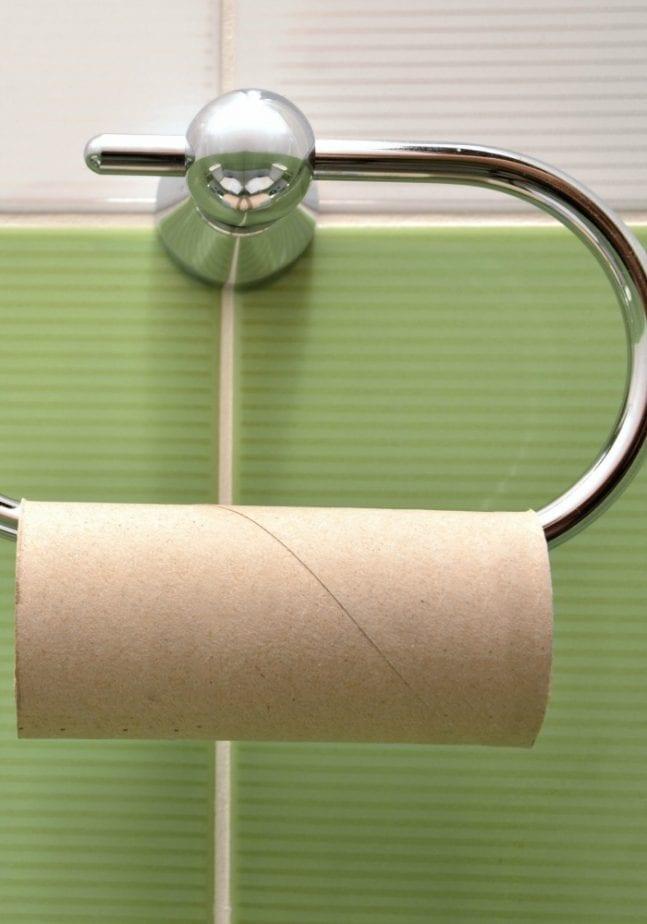 no toilet paper