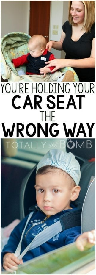 Turns out you're been holding your car seat wrong this whole time. Who knew? #CARSEAT #parenting #carseathacks #carseattricks