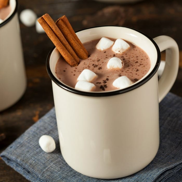 Nothing warms you from the inside out faster than a sinfully delicious cup of slow cooker hot cocoa. Enjoy! | #TotallyTheBomb #hotcocoa #cinnamon #marshmallows #winter #delicious #chocolate #treat #recipe #yum #tradition #feelgood #tasty