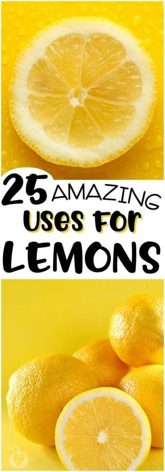 Here are 25 things you probably didn't know you can do with lemons. Well, other than make lemonade. Have fun! | #TotallyTheBomb #lemons #howto #diy #cleaning #spring #housework #otheruses #citrus