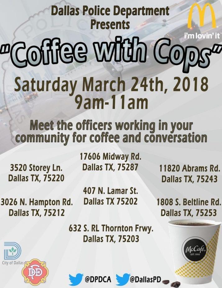 McDonald's Coffee with Cops Program + Free Coffee! #DPDCoffeewithCops #coffee #coffeewithcops #goinglocal #texas