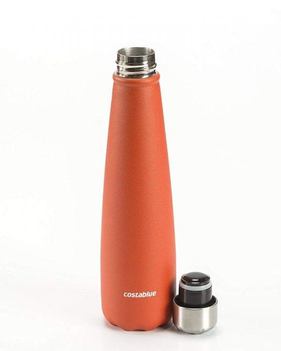 orange water bottle
