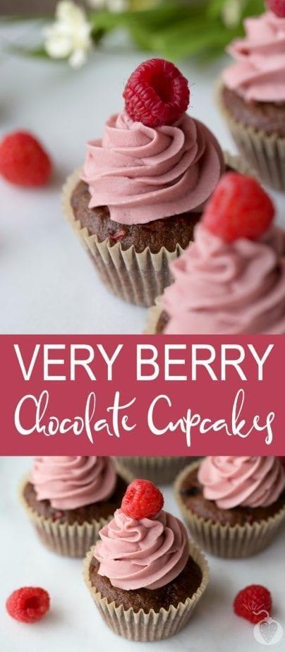 very berry chocolate cupcakes