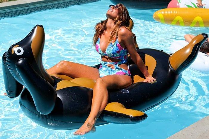 weiner dog pool float