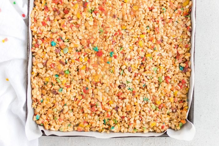 Fruity Pebbles Rice Krispies Treats