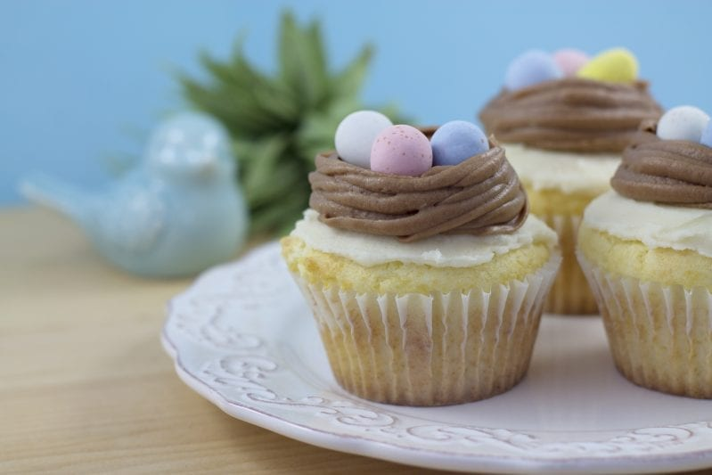 I absolutely love this recipe for Bird's Nest Cupcakes. So simple, but perfect for any spring get-together. Easter? You betcha. Mother's Day? Let's do it. Random spring family adventure? Perfect cupcake. #birdsnestcupcake #nestcupcake #cupcake