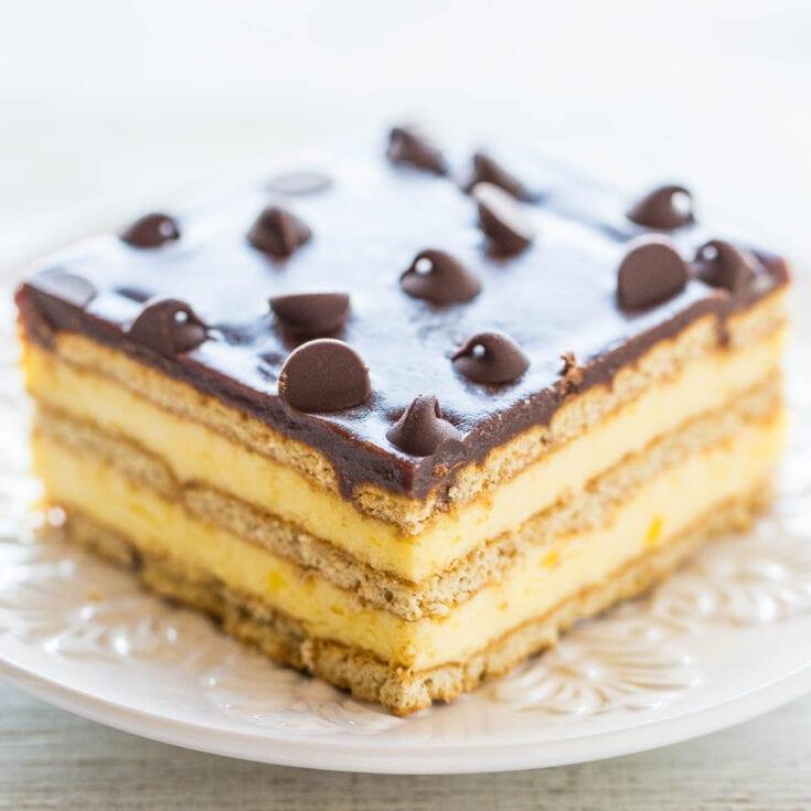 Boston Cream Icebox Cake - Averie Cooks